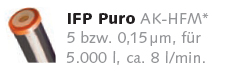 Filterpatrone IFP Puro für Carbonit Vario und Carbonit SanUno Wasserfilter